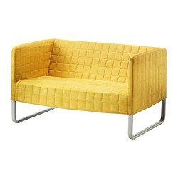KNOPPARP 2-zitsbank - heldergeel - IKEA