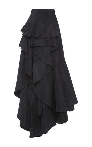 Daisy Buchanan Skirt by JOHANNA ORTIZ, юбка черная длинная, юбка пышная, юбка с воланами, юбка многослойная, бохо стиль, юбка нарядная, юбка на праздник, юбка на вечер, юбка на свидание