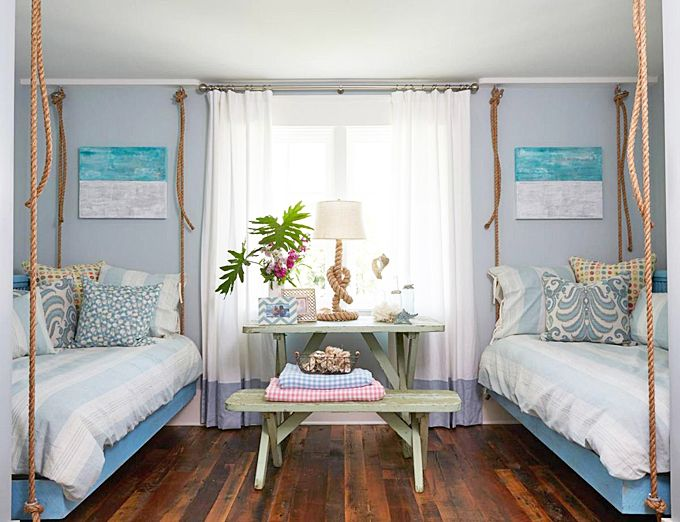 House of Turquoise: Georgia Carlee. Cool lamp by the window! Also love the touches of turquoise and beachy accents throughout the house.