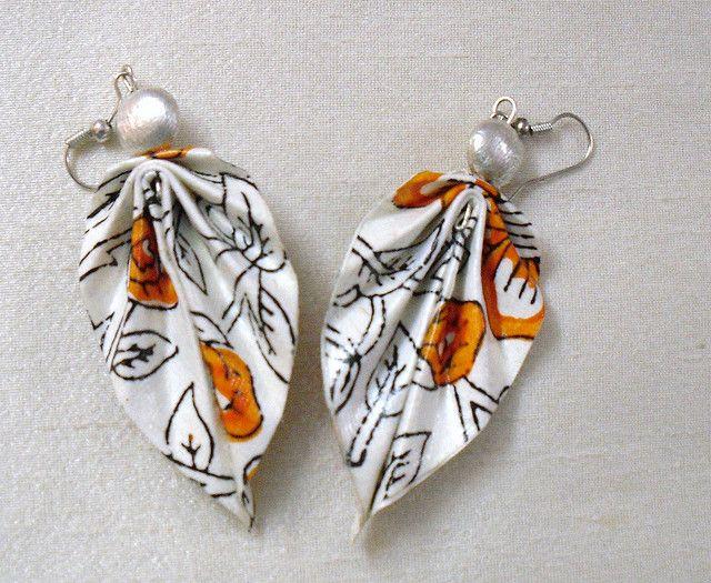 Paper Earrings, Handmade Paper Jewellery www.facebook.com/elevenlife
