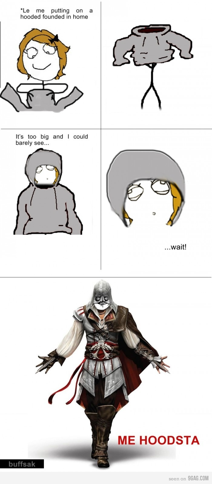 assassins creed: Assassinscreed, Geeky Shit, Assassins Creed 2, Assassins Creed Hoodie, Assassins Creed Meme, Video Games, Geeky Stuff