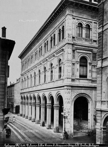 Palazzo della Cassa di Risparmio, Vicenza, 1880..: Alinari :..
