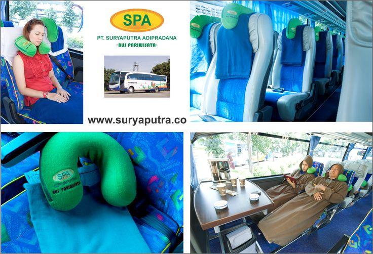 Fasilitas Bantal Selimut Bus Pariwisata Suryaputra
