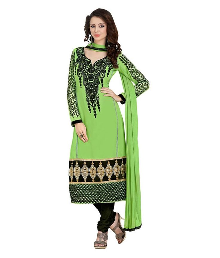 Loved it: Monalisa Fabrics Green Faux Georgette Unstitched Dress Material, http://www.snapdeal.com/product/monalisa-designer-green-georgette-patiala/627815840735