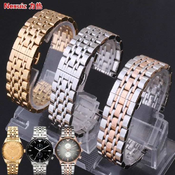 <Click Image to buy>Watchbands  7beads Solid links Watch Bracelet Watchband 22mm Stainless Steel Watch Band For Smart Watch common watches *** Locate this beautiful piece simply by clicking the VISIT button #SmartWatches