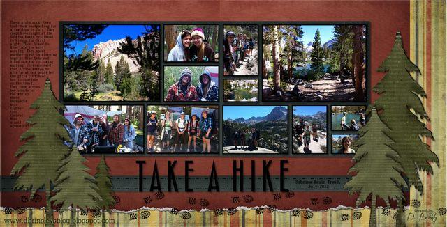 D. Brinsley's Memory Keeping blog: Take a Hike Digital Layout Idea, hiking, camping, woods