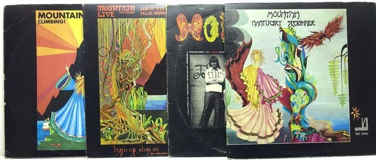 Mountain LP Vinyl Record Album Lot: Climbing! + Flowers of Evil + Live +++ stores.ebay.com/capcollectibles