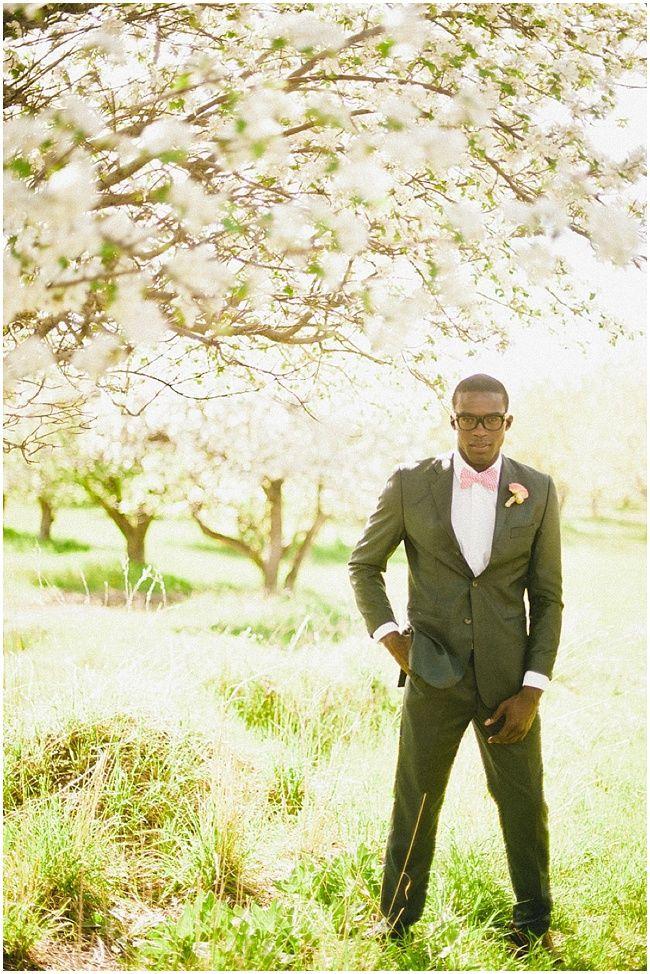 Stylish modern groom | Stunning Spring Blossom Wedding inspiration: Featuring Calvin Klien & Monique Lhuillier by David Newkirk Photography | Nu Bride