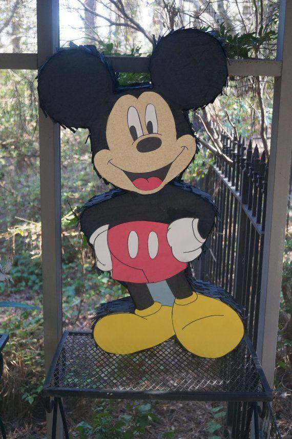 Mickey Mouse Pinata Mickey Mouse Mickey Mouse by ThePinkBubbleShop