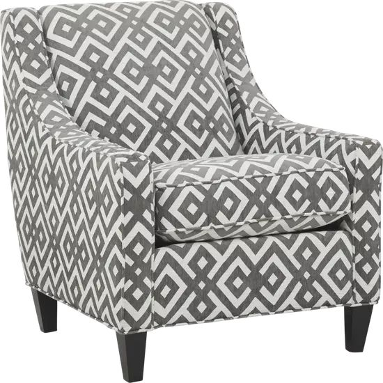 Cindy Crawford Home Chelsea Hills Gray Accent Chair In