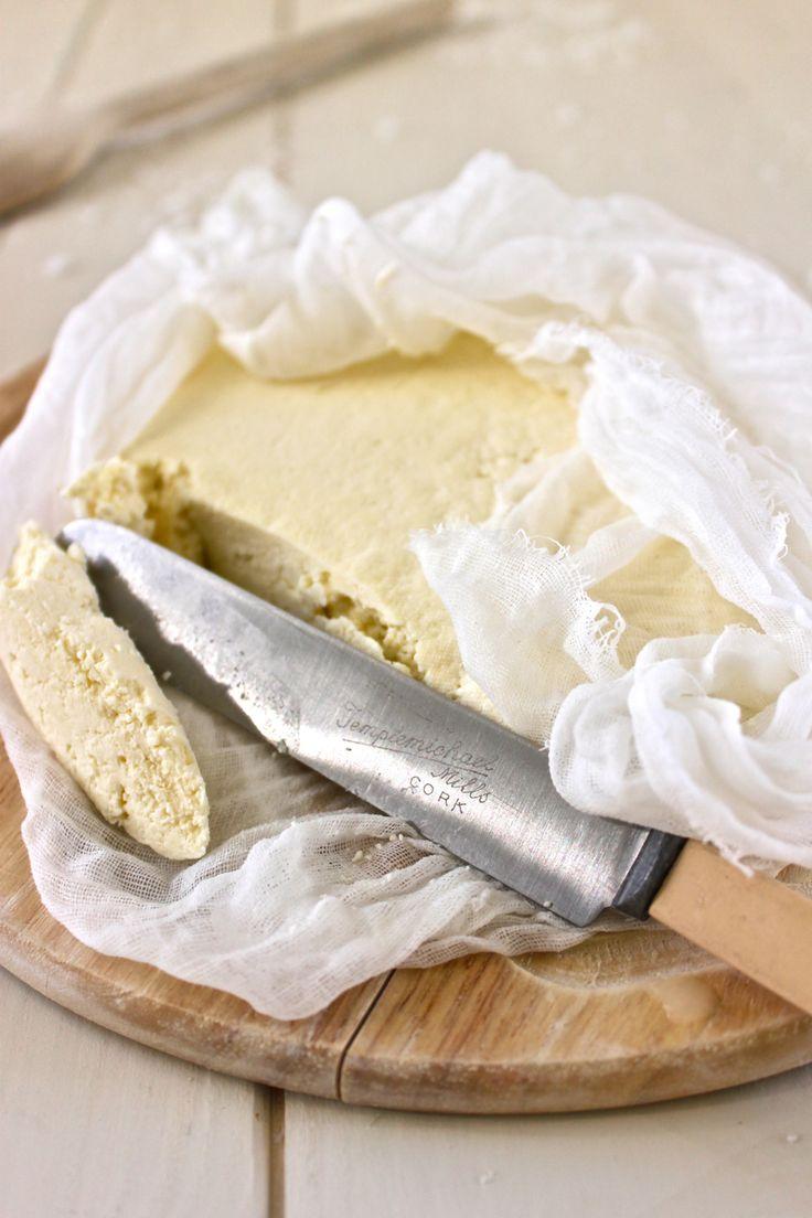 Homemade Irish farmers cheese - simple - milk, salt & lemon juice