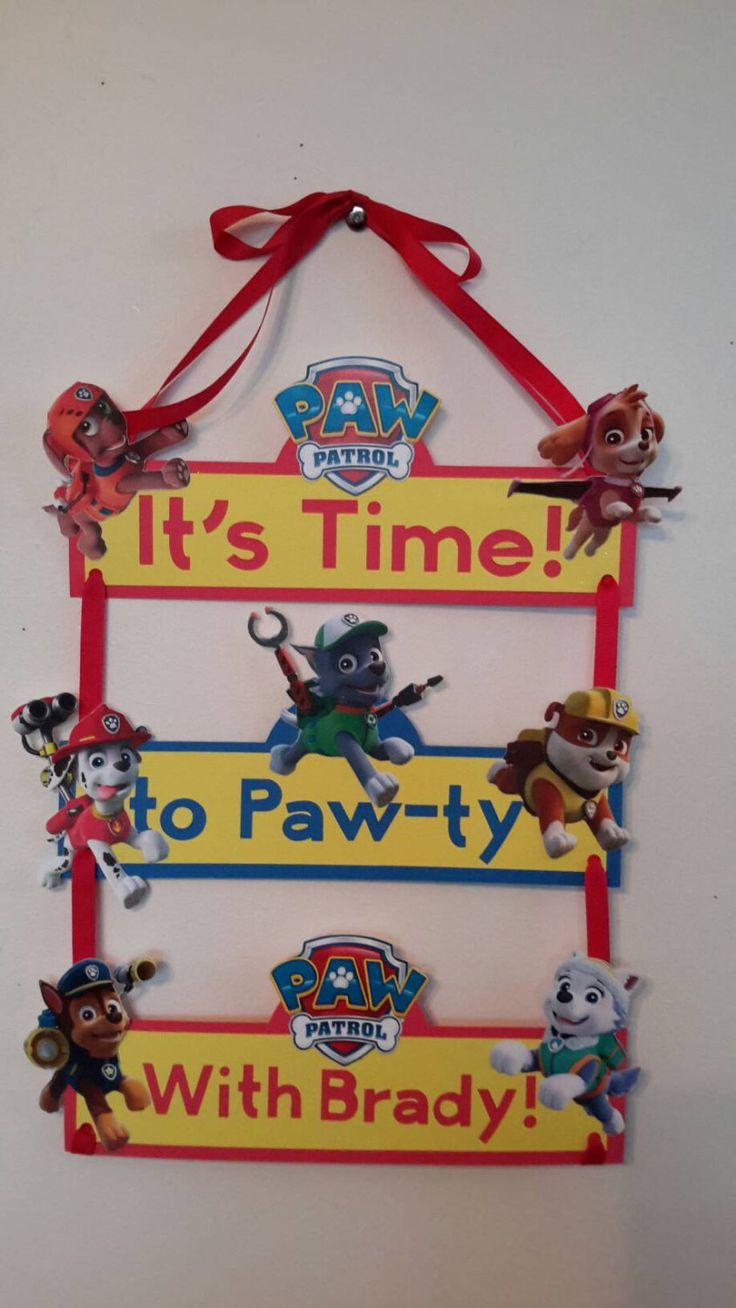 Paw Patrol Banner, Paw Patrol,Paw Patrol Birthday party, Paw Patrol birthday sign, Paw Patrol  party decoration, paw patrol room decoration, by PresentsFromTheHeart on Etsy https://www.etsy.com/listing/245377299/paw-patrol-banner-paw-patrolpaw-patrol