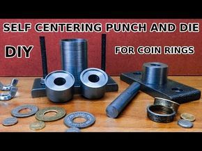 New Tool for a Perfectly Centered Hole in a Coin Ring - YouTube