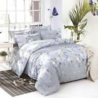 Grey Grass Single Double Queen King Size Bed Set Pillowcases Quilt Duvet Cover