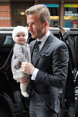 David Beckham — Sometimes it's Beckham's lack of clothing that keeps us talking about the soccer star, father, and Mr. Posh Spice. But, off the field, the tattoo-covered icon has truly set the tone for men's trends, be it a mohawk, those infamous knit beanies, his causal layering of hoodies and buttons downs, or a classic trench. Style inspiration for the modern family man? This Brit is It.