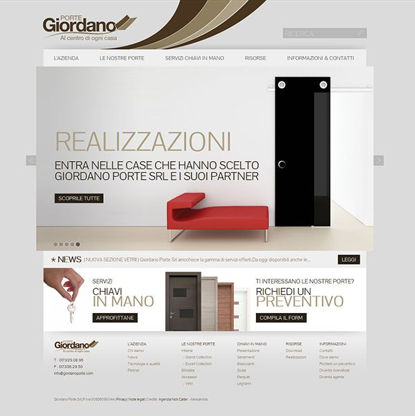 Website for Giordano Porte doors shop