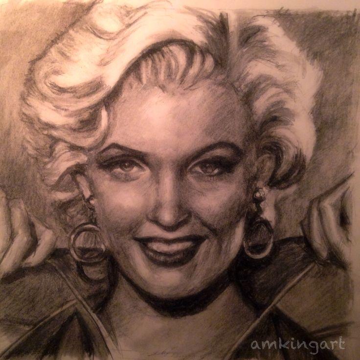 MarilynMonroe in charcoal