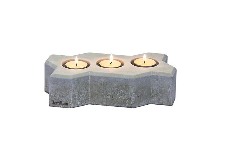 Świecznik bruk WAVE z betonu