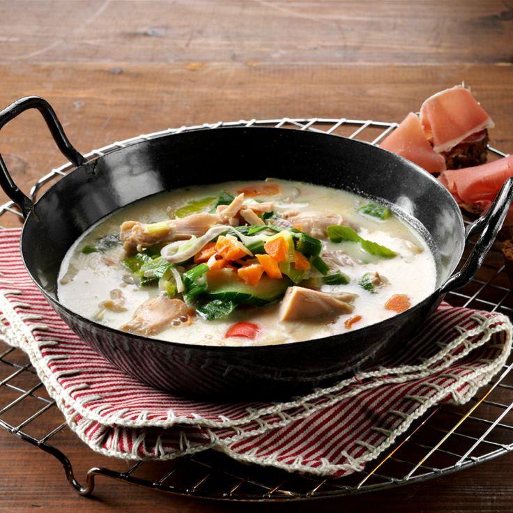 Recept week 2: Romige kippensoep met Italiaanse groente