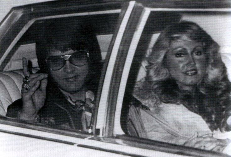 One of the last photos taken of Elvis and Linda Thompson, a month before she…