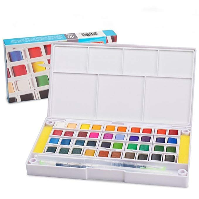 Watercolor Paint Set 40 Colors Watercolors Field Sketch Set With
