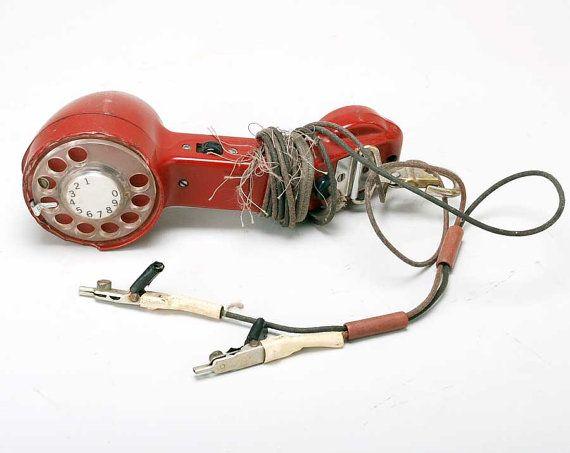 "Red Linemans phone ""Original"": Telephone Families, American Telephone"