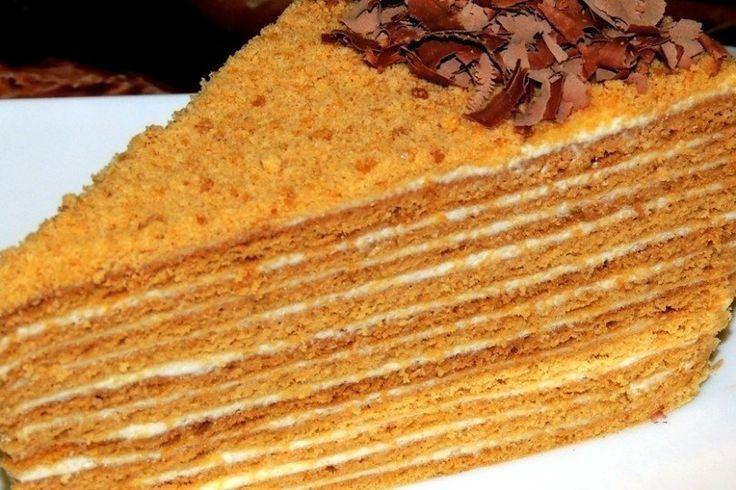 Рецепт медового торта в мультиварке