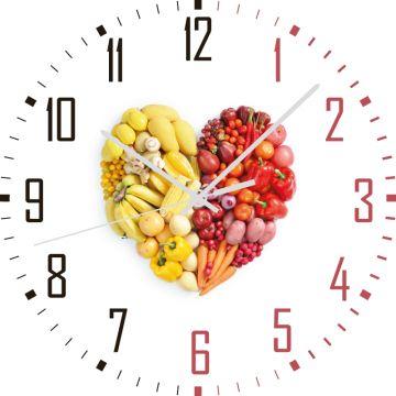 Kalp Şeklinde Meyve Saat 27 cm