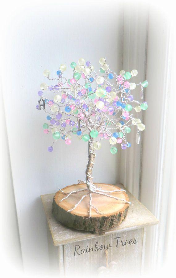 Pastel rainbow tree happy,balloon,unique gift,wire tree of life                                                                                                                                                     More