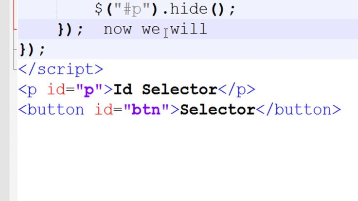 Jquery id Selector example using p tags