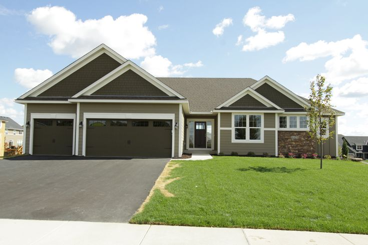 Oakmont Rambler By Key Land Homes Oakmont Plan Pinterest House Paint Garage Doors And
