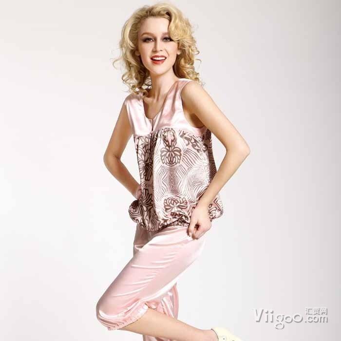 Wholesale Ms. Emulation silk pajamas on Viigoo.com