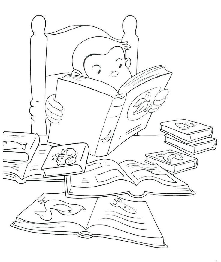 41++ Curious george coloring pages momjunction ideas