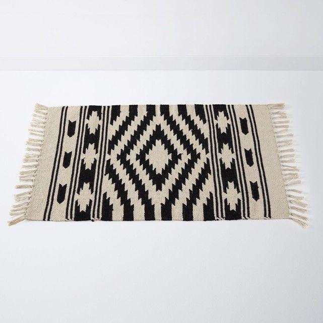 Tapis De Bain Style Berbere Jehba La Redoute Interieurs Travaille En Coton Tisse Et Inspire D Un Artisanat De Caracte Tapis De Bain Tapis De Bain Noir Tapis