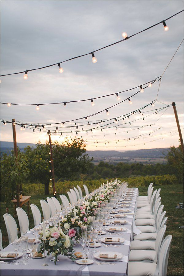Best 25 outdoor wedding tables ideas on pinterest outdoor diy wedding in provence france solutioingenieria Images