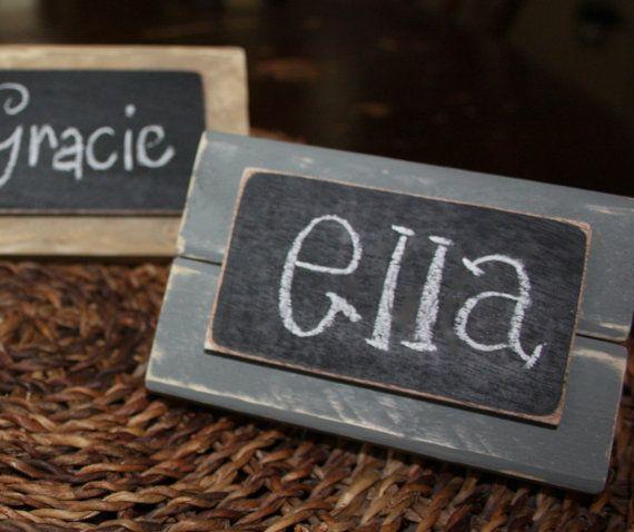 Set of 4Distressed Wood Mini Frame by BeneathTheBarkAt825 on Etsy, $14.00