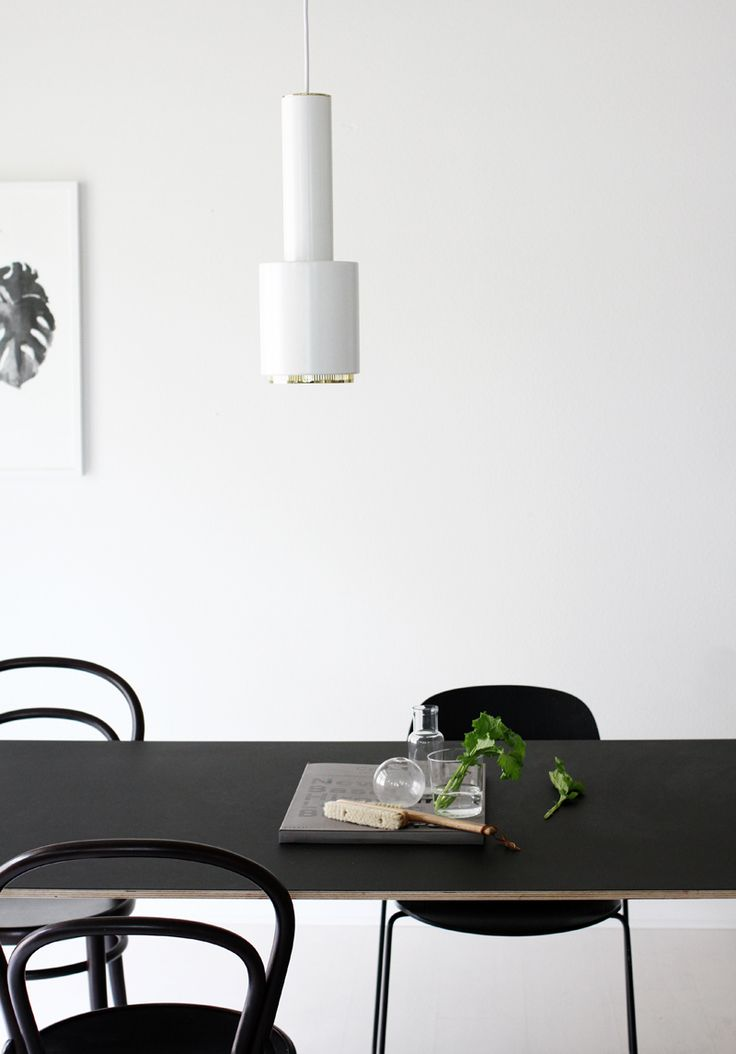 Via A Merry Mishap | Black and White | Dining Room