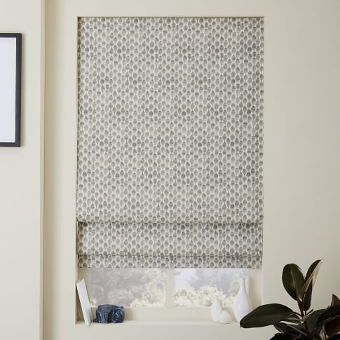 Contemporary Roman Shades and Blackout Liner   west elm