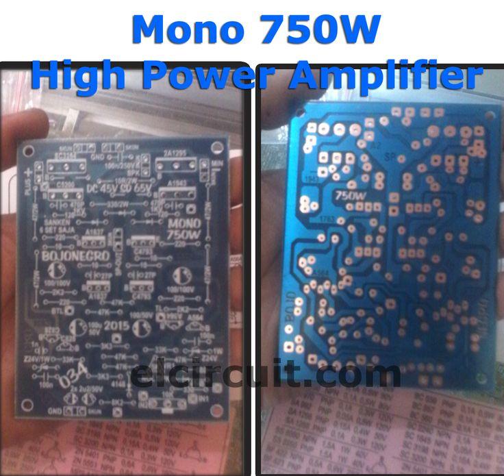 PCB 750W Mono Power Amplifier