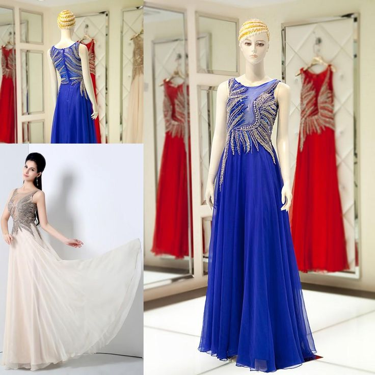 Major Beading Nude Evening Dresses Wear Crystal Sheer Neck 2016 Illusion Royal Blue Sequins Prom Party Dresses 100% Real Photos Yln016 Plus Size Bolero Jackets For Evening Dresses Plus Size Evening Wear Dresses From Lovely518, $162.31| Dhgate.Com