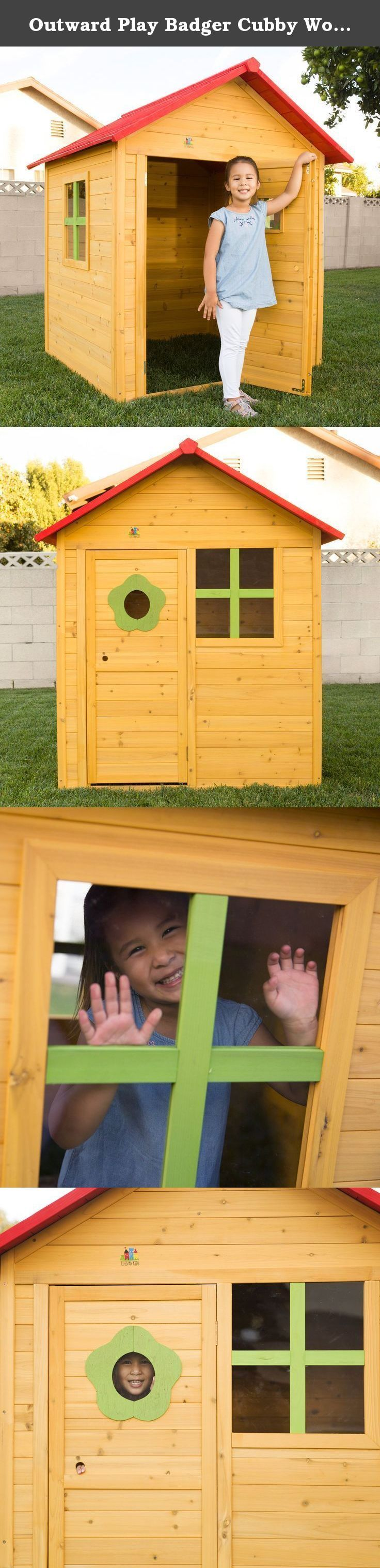 outward play badger cubby wood playhouse stylish and spacious