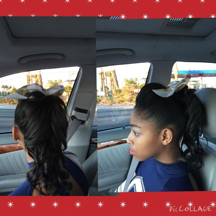 Cheer Hairstyle For Black Girls Cheer Hairstyle For
