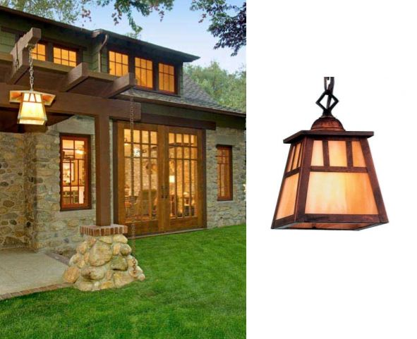 Arts U0026 Crafts Lighting Used In Bungalow Makeover Images