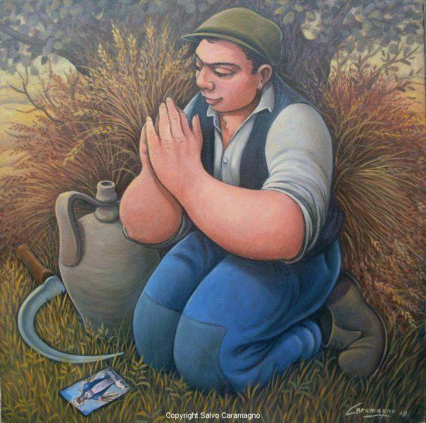La preghiera cm 40 x 40