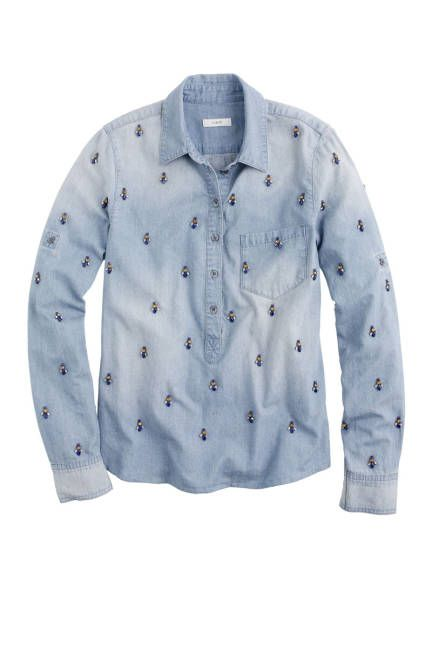 100 best new fall denim: the chambray jean shirt