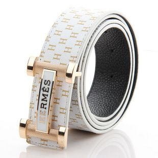designer belts hermes uf38  Luxury hms male seiko genuine leather belt male two sides casual strap  $5234
