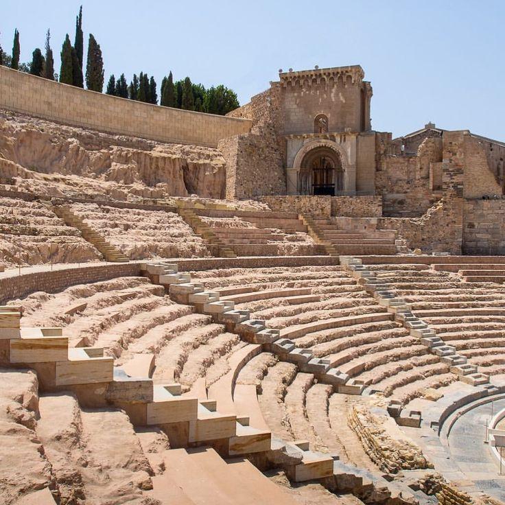 Ancient Cartagena Roman Theatre 🎭 now, where's the entertainment!