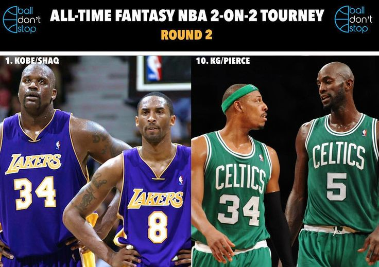 Which duo would win in a 2-on-2 game? Shaq and Kobe vs Pierce and KG 👀🔥 Game to 21. Winner moves onto Round 3 of our All-Time Fantasy NBA 2-on-2 Tournament. Make your pick below 👇🏽 #balldontstop
