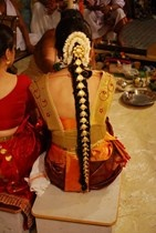 South Indian - Bridal Hairstyles with Flowers and Hair accessories