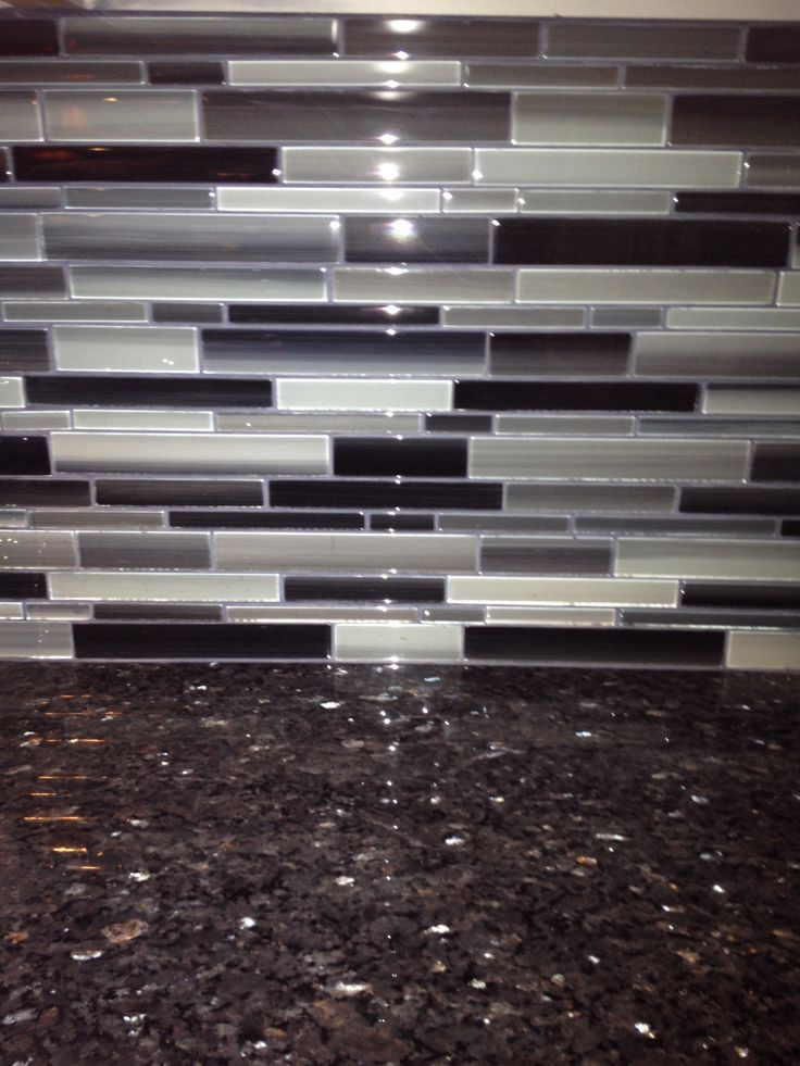 Best My Black Splash From Lowes And Blue Pearl Granite Top 400 x 300